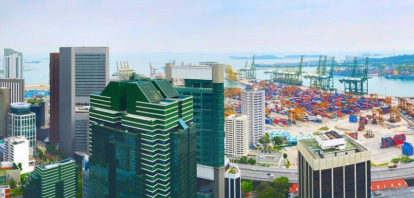 Singapore port panorama