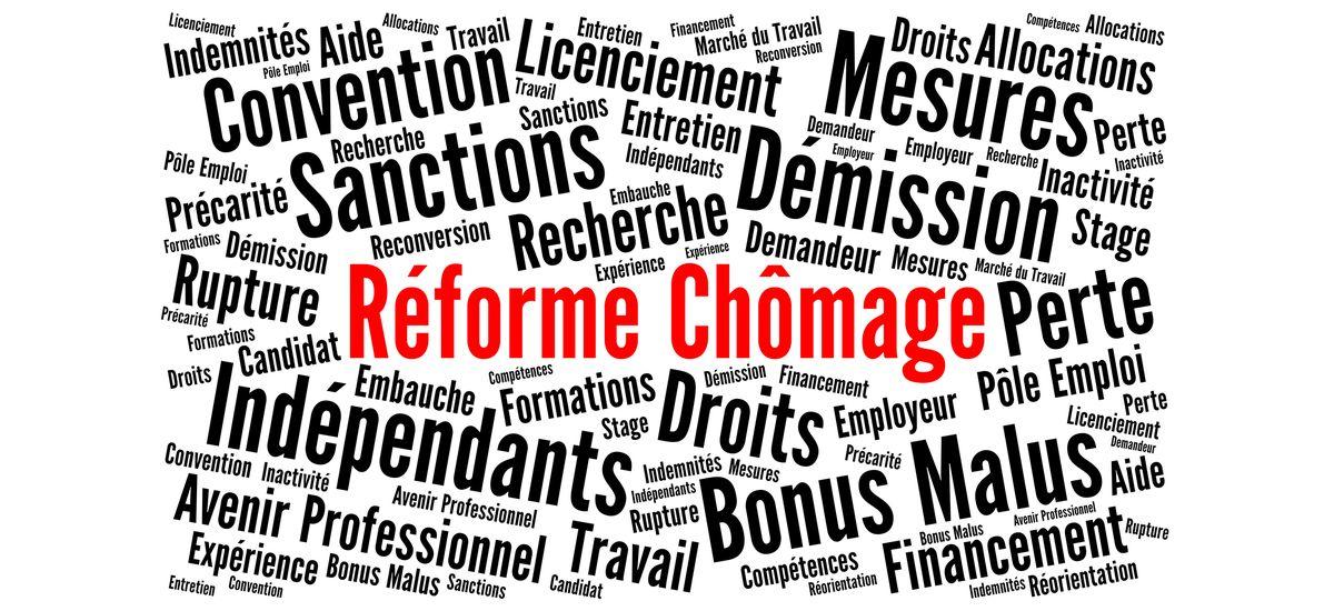 Réforme chômage nuage de mots