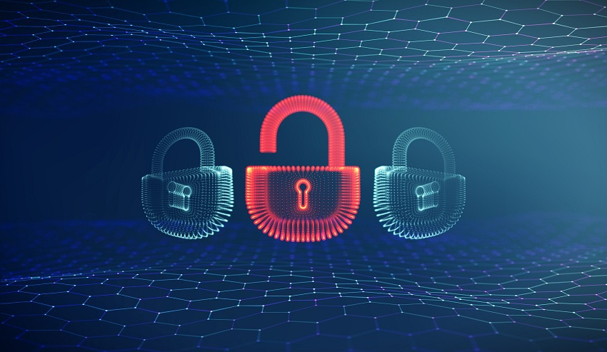 Coputer internet cyber security background. Cyber crime vector illustration. digital lock vector illustration EPS 10.