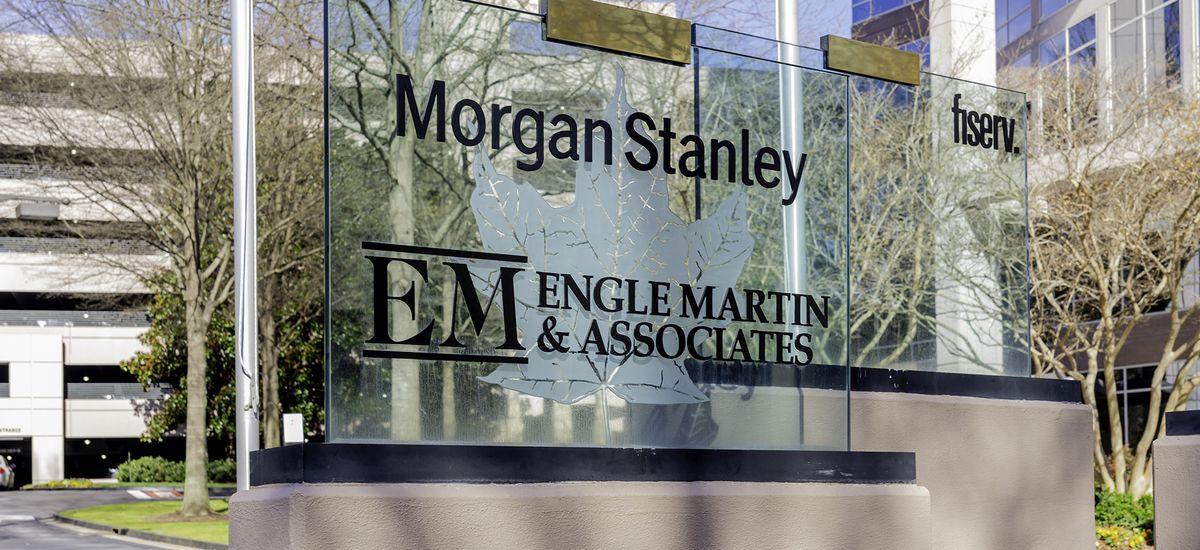 Atlanta, Georgia, USA - January 16, 2020: Morgan Stanley sign at